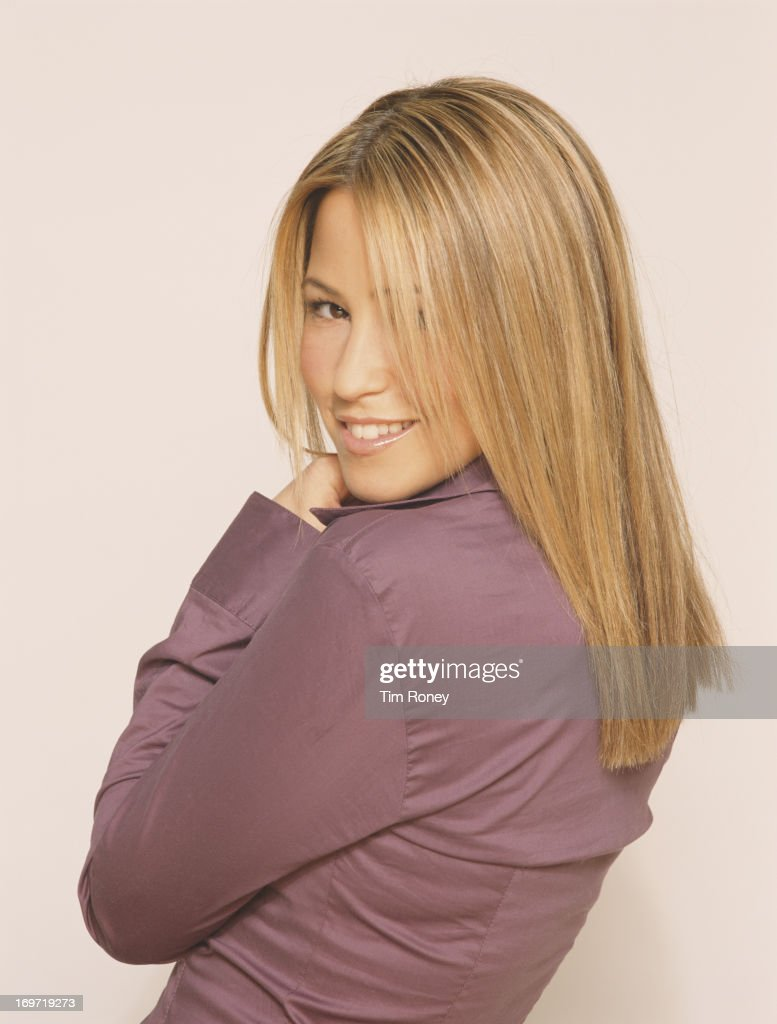 English singer Rachel Stevens from the pop group S Club, July 2002.