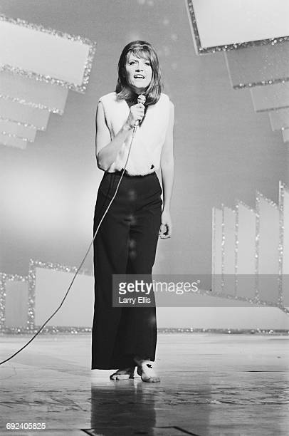 English singer Sandie Shaw performs at the Royal Gala Show in London 29th November 1966