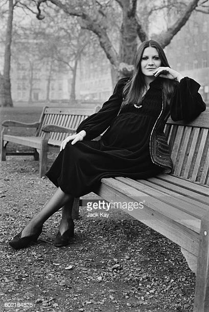 English singer Sandie Shaw whilst pregnant with her daughter Gracie UK 15th January 1971