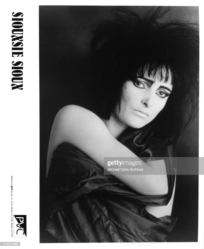 English singer <a gi-track='captionPersonalityLinkClicked' href=/galleries/search?phrase=Siouxsie+Sioux&family=editorial&specificpeople=714537 ng-click='$event.stopPropagation()'>Siouxsie Sioux</a> of Siouxsie And The Banshees poses for a PVC Records publicity still in 1981.