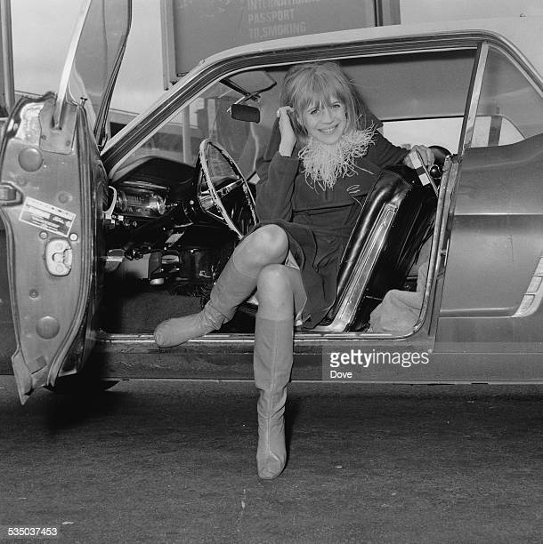 English singer songwriter and actress Marianne Faithfull at London Airport 21st January 1967