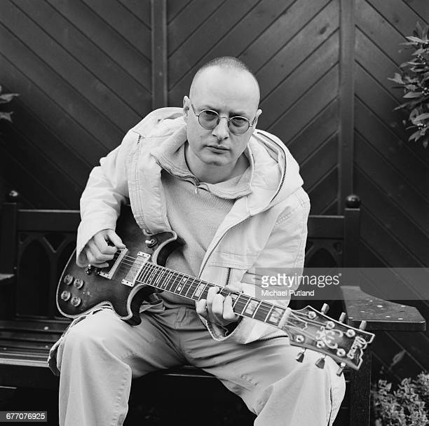 English singer songwriter and guitarist Andy Partridge formerly of XTC at home in Swindon Wiltshire March 2000