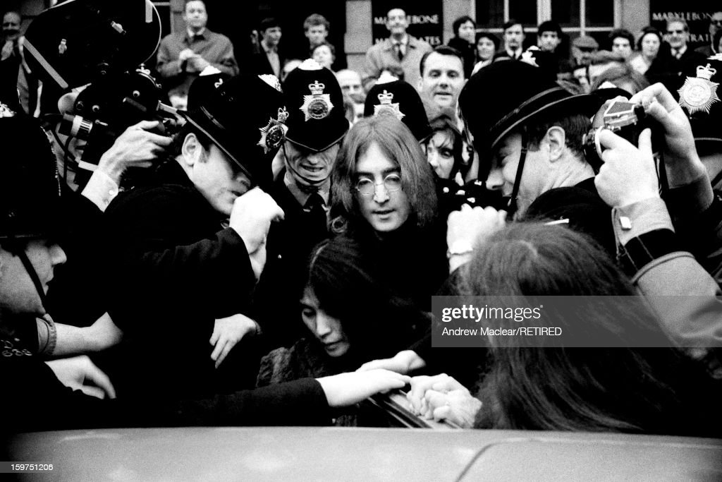 John And Yoko Leave London Airport For Cannes