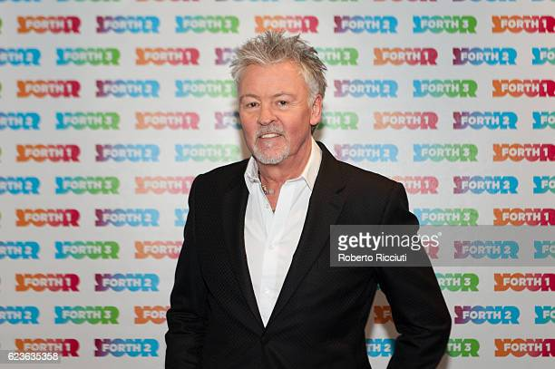 English singer songwriter and musician Paul Young winner of 'The Forth Icon Awards 2016' poses in the awards room at 'The Forth Awards 2016' at Usher...