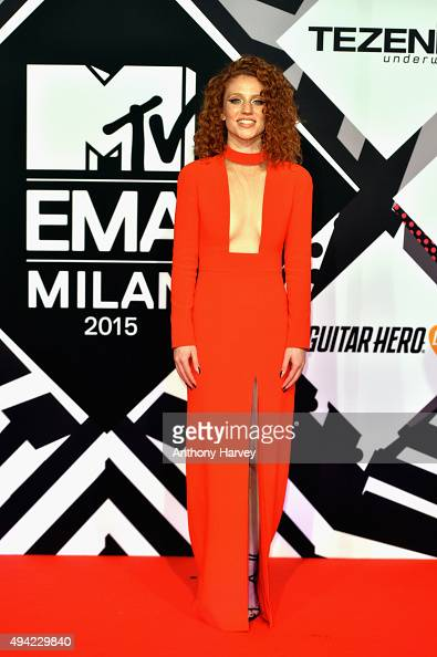 English singer songwriter Jess Glynne attends the MTV EMA's 2015 at the Mediolanum Forum on October 25 2015 in Milan Italy