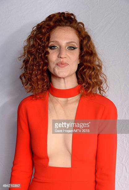 English singer songwriter Jess Glynne poses for a portrait before the MTV EMA's at the Mediolanum Forum on October 25 2015 in Milan Italy
