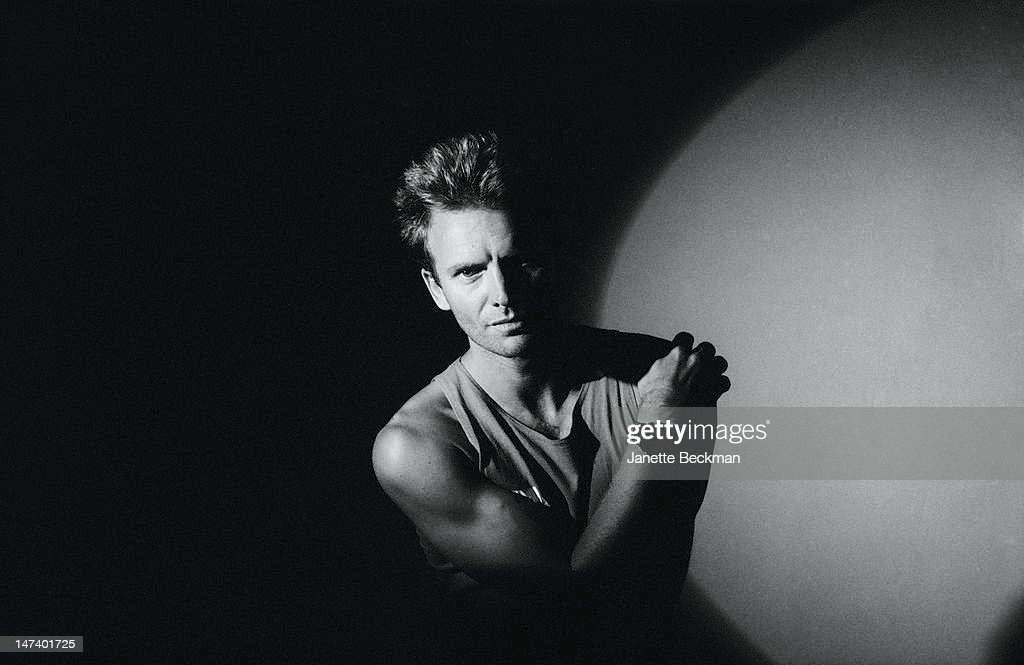 English singer, songwriter, musician and actor <a gi-track='captionPersonalityLinkClicked' href=/galleries/search?phrase=Sting+-+Singer&family=editorial&specificpeople=220192 ng-click='$event.stopPropagation()'>Sting</a>, UK, 1989.