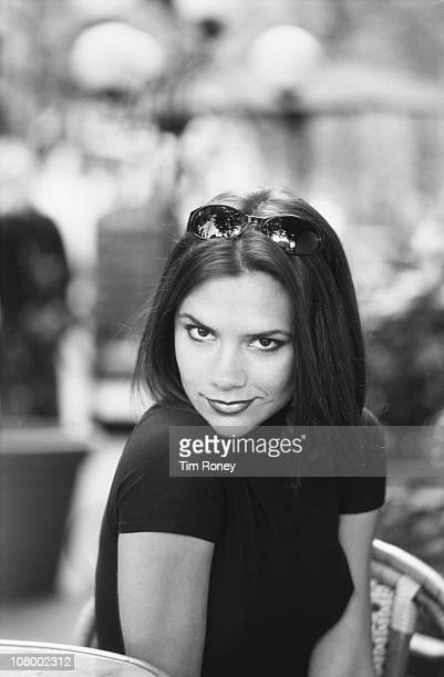 English singer Victoria Adams later Beckham aka Posh Spice of the Spice Girls in Paris September 1996