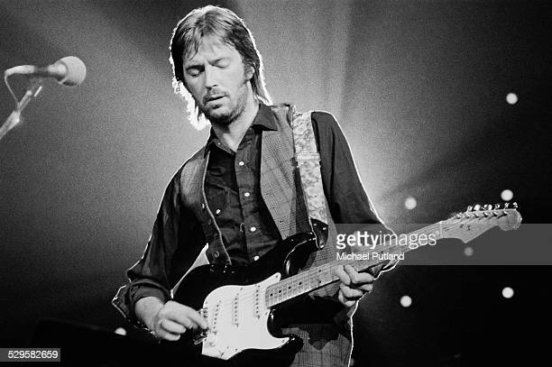 English singersongwriter and guitarist Eric Clapton performing during his US tour July 1974