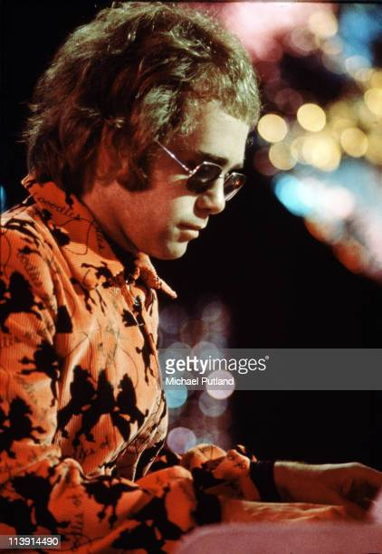 English singersongwriter and pianist Elton John performing on the BBC television show 'Top Of The Pops' 20th December 1971