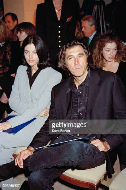 English singersongwriter Bryan Ferry at the Gianni Versace Haute Couture Summer 1996 launch at the Hotel Ritz Paris France 20th January 1996