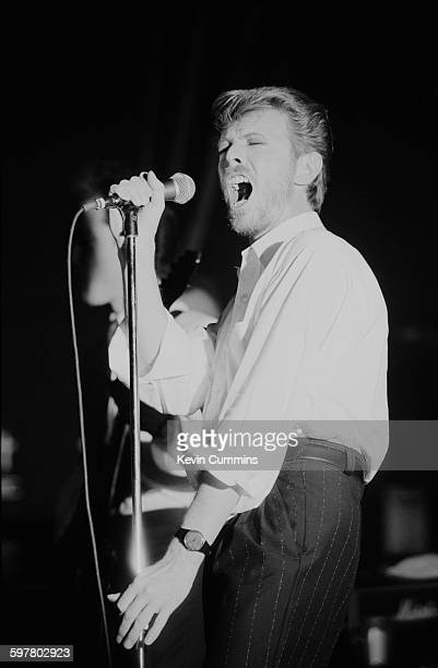 English singersongwriter David Bowie performing with his group Tin Machine at the Town and Country Club London 28th June 1989