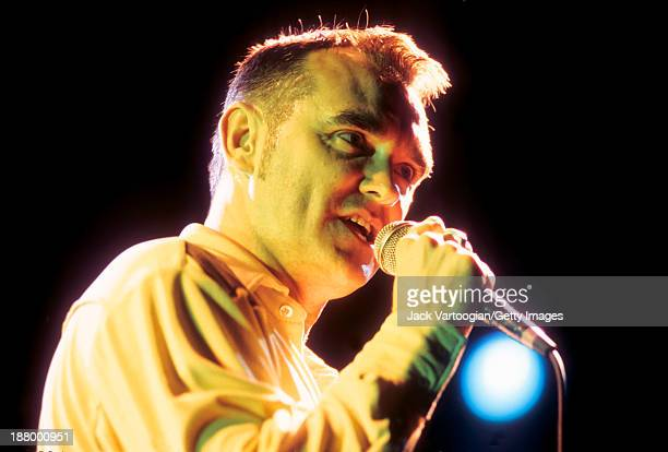 English singersongwriter Morrissey performs at a Benefit for Central Park SummerStage New York New York September 17 1997