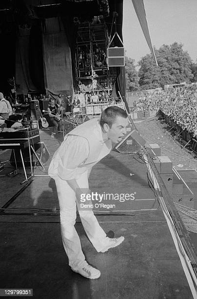 English singersongwriter Peter Gabriel performing at the Knebworth Festival Hertfordshire 9th September 1978