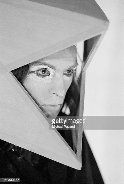 English singersongwriter Peter Gabriel performing in costume with rock group Genesis Newcastle City Hall 1st October 1972