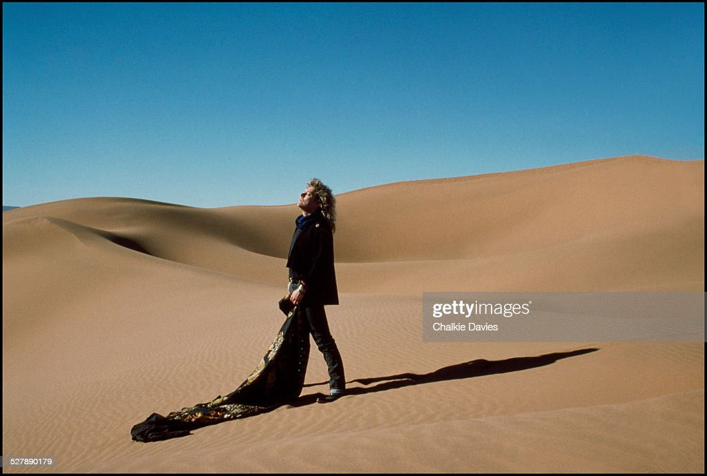 English singersongwriter Robert Plant in the Moroccan desert 1986