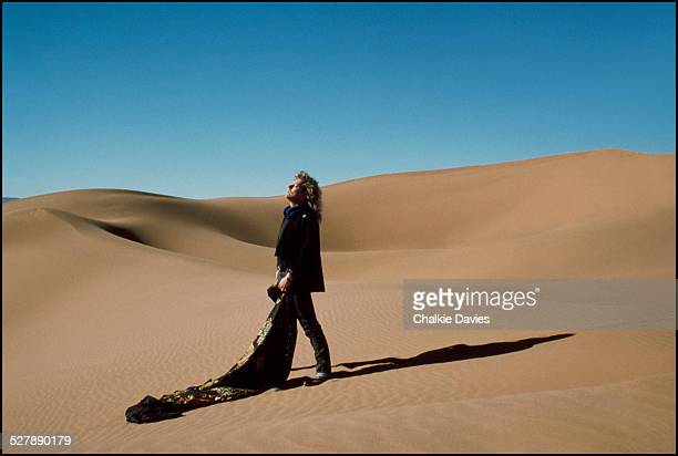 English singersongwriter Robert Plant in the Moroccan desert 1986