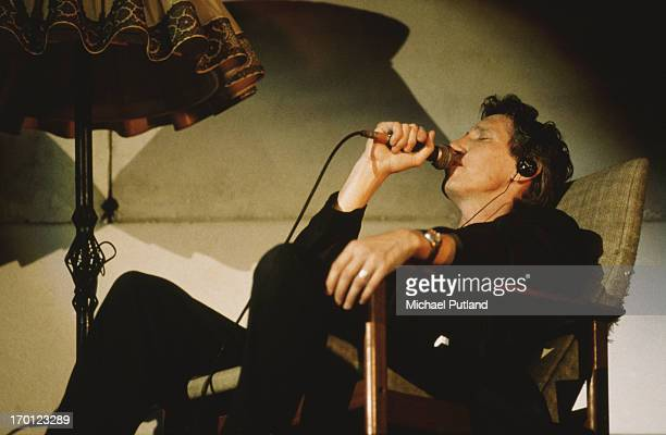 English singersongwriter Roger Waters formerly of Pink Floyd performs on stage during a concert version of 'The Wall' Berlin Germany 21st July 1990...