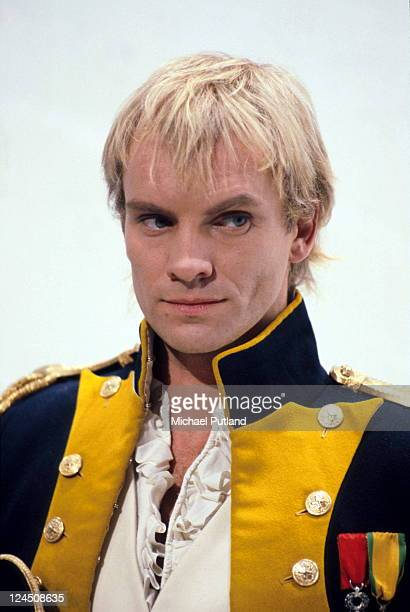English singersongwriter Sting of The Police dressed as Napoleon on the Thames TV comedy programme 'The Kenny Everett Video Show' London November 1983