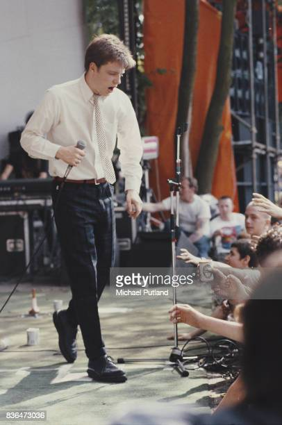 English ska band Madness perform on stage at the 'Summer In The City' festival Crystal Palace London 13th June 1981
