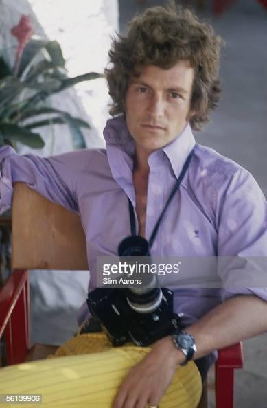 English society photographer Patrick Lichfield in Porto Ercole Italy 1968