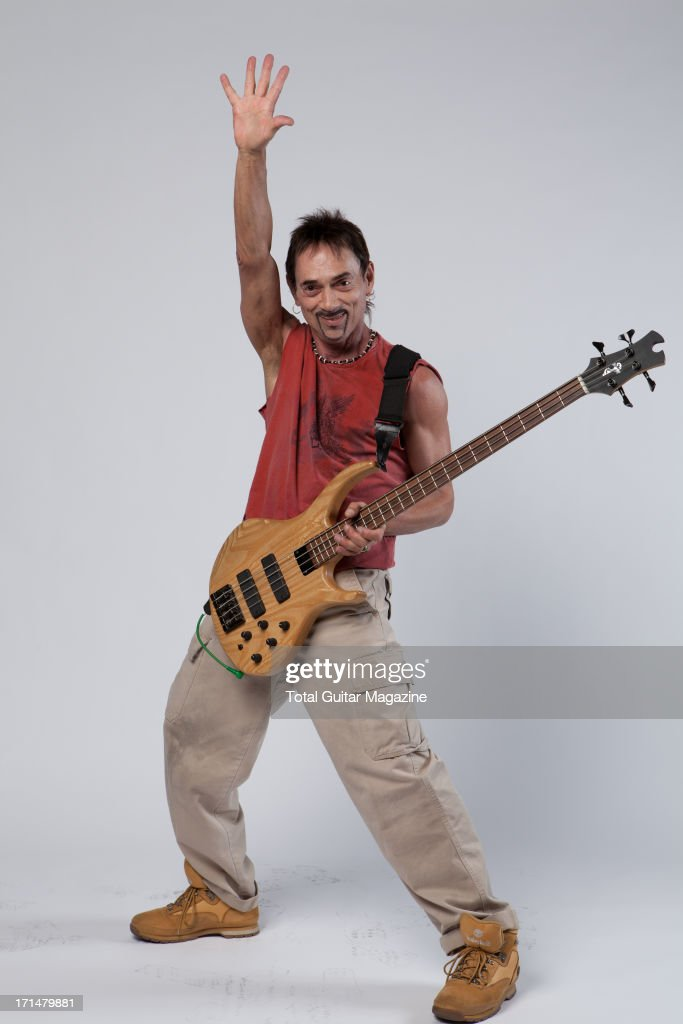 English songwriter and bassist <a gi-track='captionPersonalityLinkClicked' href=/galleries/search?phrase=Andy+Fraser&family=editorial&specificpeople=5717728 ng-click='$event.stopPropagation()'>Andy Fraser</a> photographed during a portrait shoot backstage at the Marshall 50 Years of Loud Live anniversary concert, September 22, 2012.