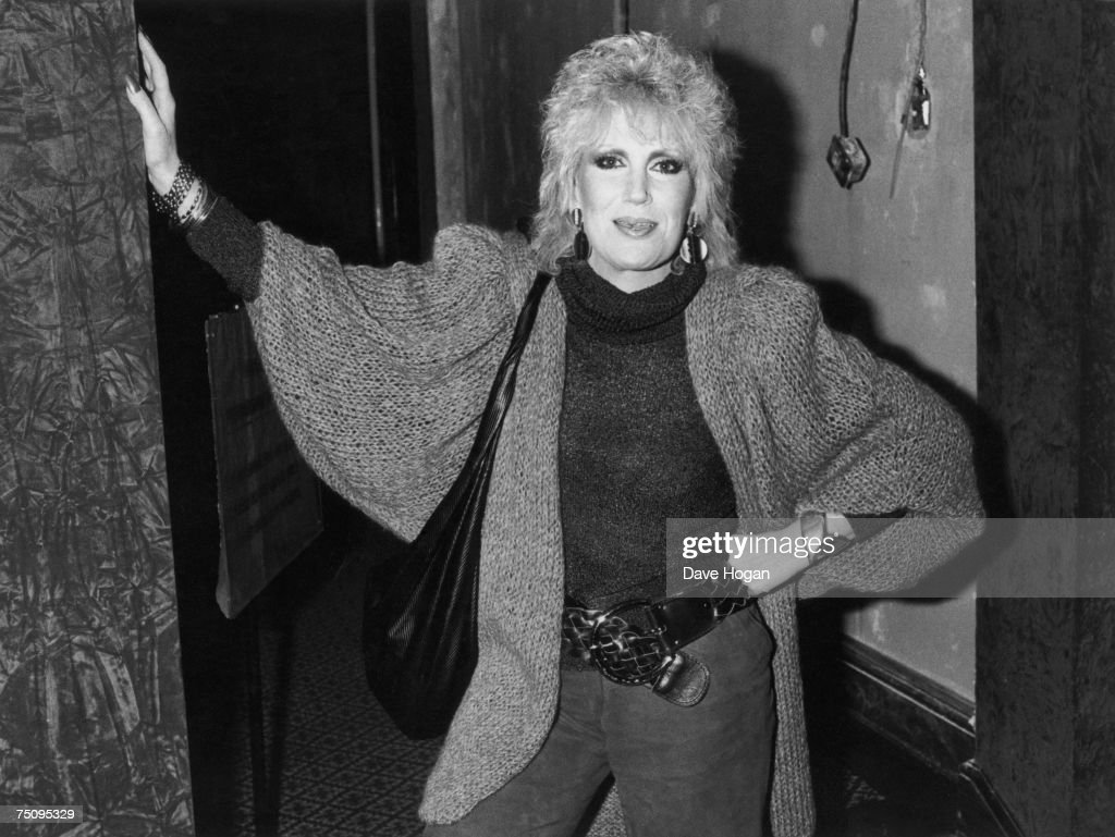 English soul and pop singer Dusty Springfield, 1984.