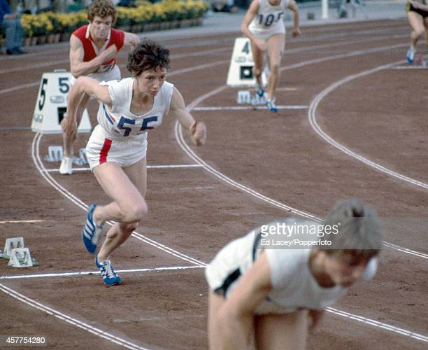 Silver medallist Ann Packer of Great Britain at the start of the women's 400 metres event during the Summer Olympic Games in Tokyo circa October 1964