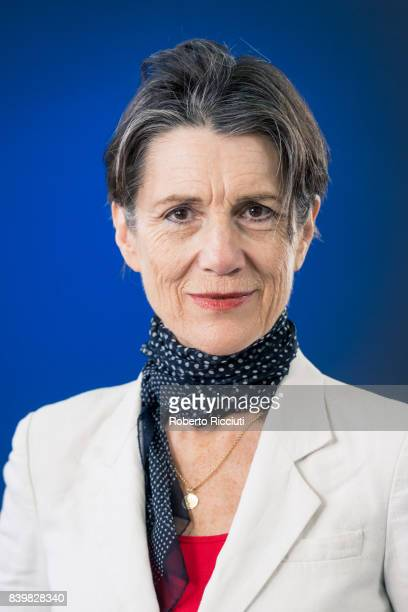 English stage and screen actress Harriet Walter attends a photocall during the annual Edinburgh International Book Festival at Charlotte Square...