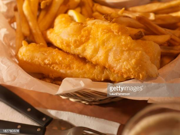 English Style Fish and Chips