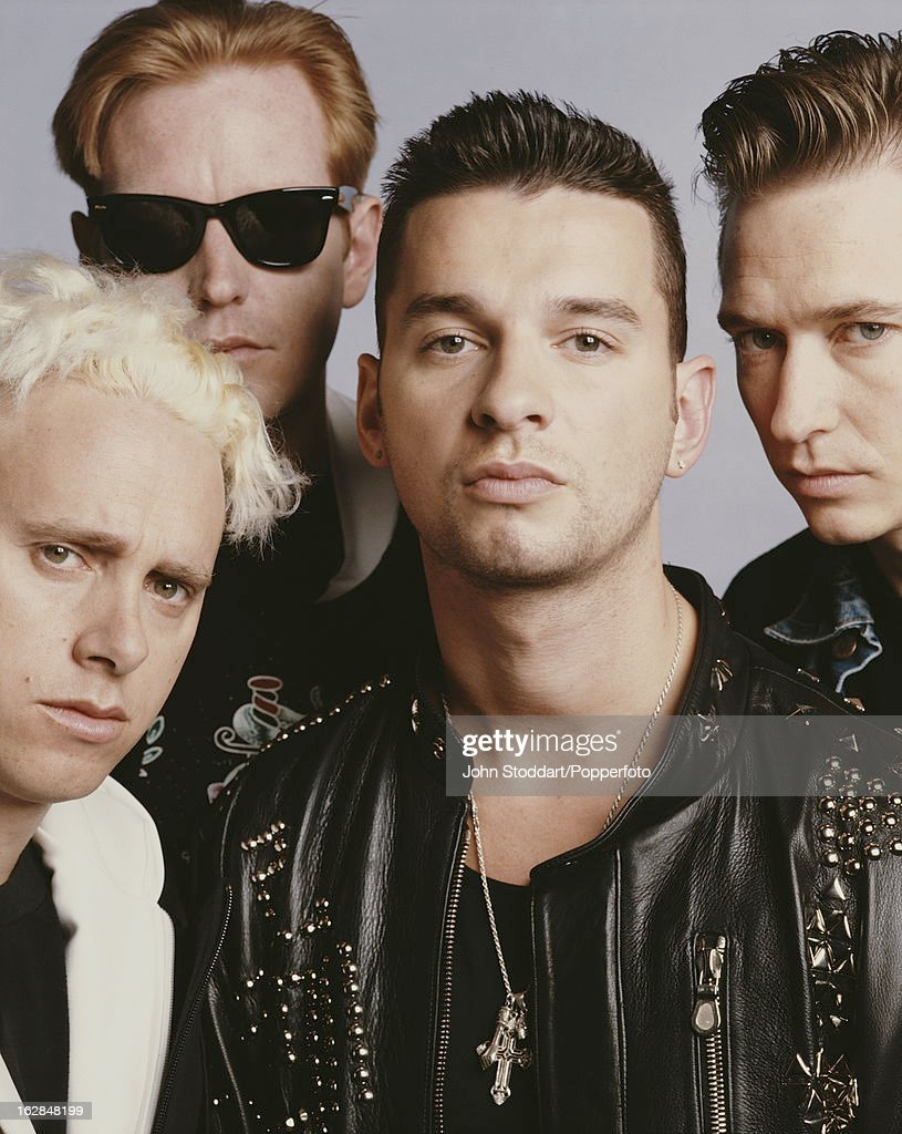 English synthpop band Depeche Mode, 1990. From left to right, they are Martin Gore, Andy Fletcher, Dave Gahan and Alan Wilder.