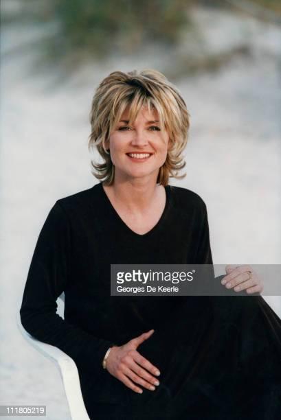 English television presenter Anthea Turner circa 1990