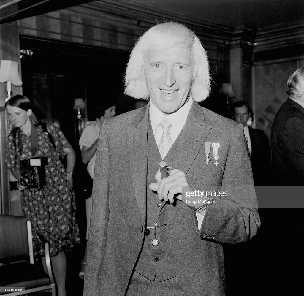 English television presenter Jimmy Savile (1926 - 2011) at the Dorchester Hotel in London, during a tribute luncheon in his honour, 19th June 1978.