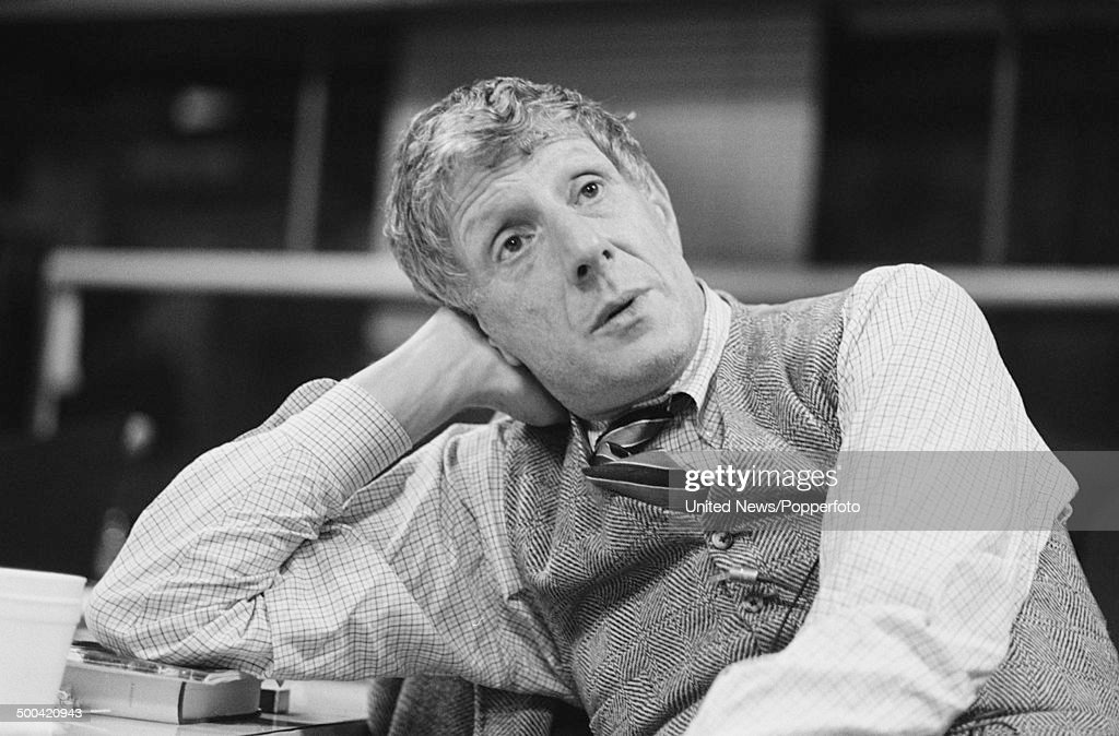 English theatre and opera director Jonathan Miller posed during a BBC production of the opera 'Cosi Fan Tutti' in London on 3rd October 1985