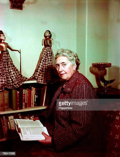 1949 English detective novelist Agatha Christie portrait who created the characters Hercule Poirot and Miss Marple