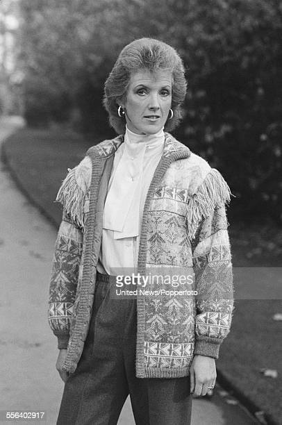 English writer and novelist Joanna Trollope pictured in London on 9th November 1983
