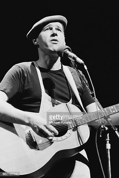 English writer comedian and musician Neil Innes performing in 'The Secret Policeman's Other Ball' at the Drury Lane theatre London 9th September 1981...