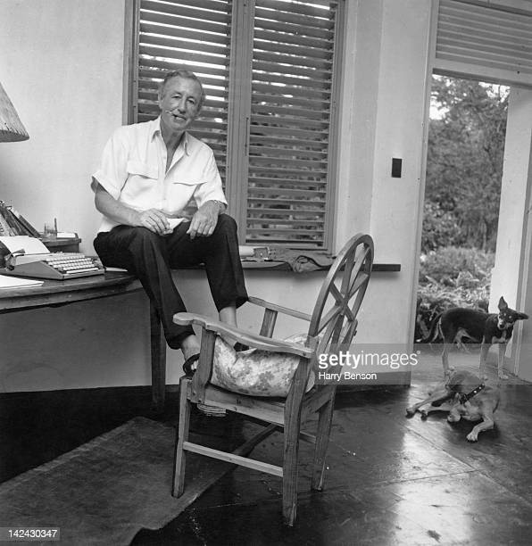 English writer Ian Fleming best known for his James Bond novels in his study at Goldeneye his home in Saint Mary Parish Jamaica 23rd February 1964