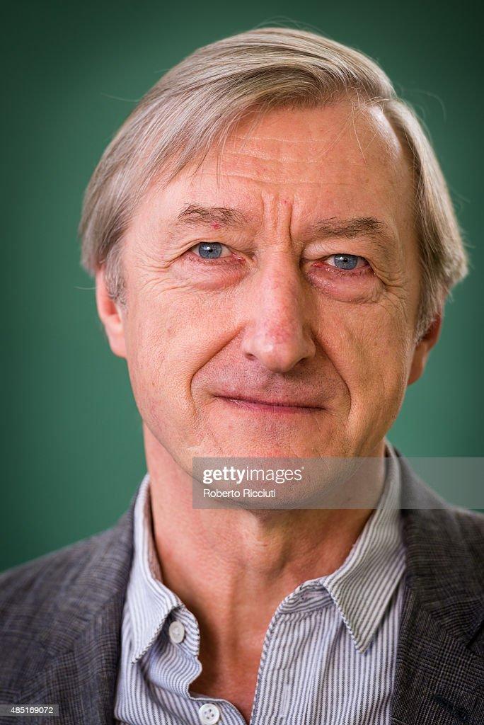 English writer <b>Julian Barnes</b> attends a photocall at Edinburgh Intern. - english-writer-julian-barnes-attends-a-photocall-at-edinburgh-book-picture-id485169072