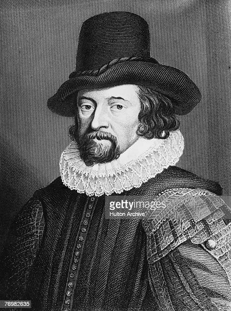 English writer scientist philosopher and politician Sir Francis Bacon 1st Viscount St Alban circa 1600 From a print by Houbraken