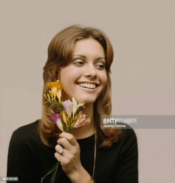 EnglishAustralian singer Olivia NewtonJohn at Clareville Studios Clareville Street London 1971