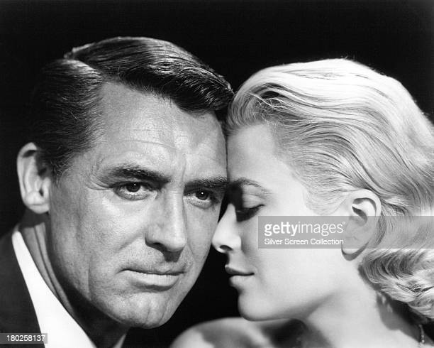 Englishborn actor Cary Grant and American actress Grace Kelly in a promotional portrait for 'To Catch A Thief' directed by Alfred Hitchcock 1955