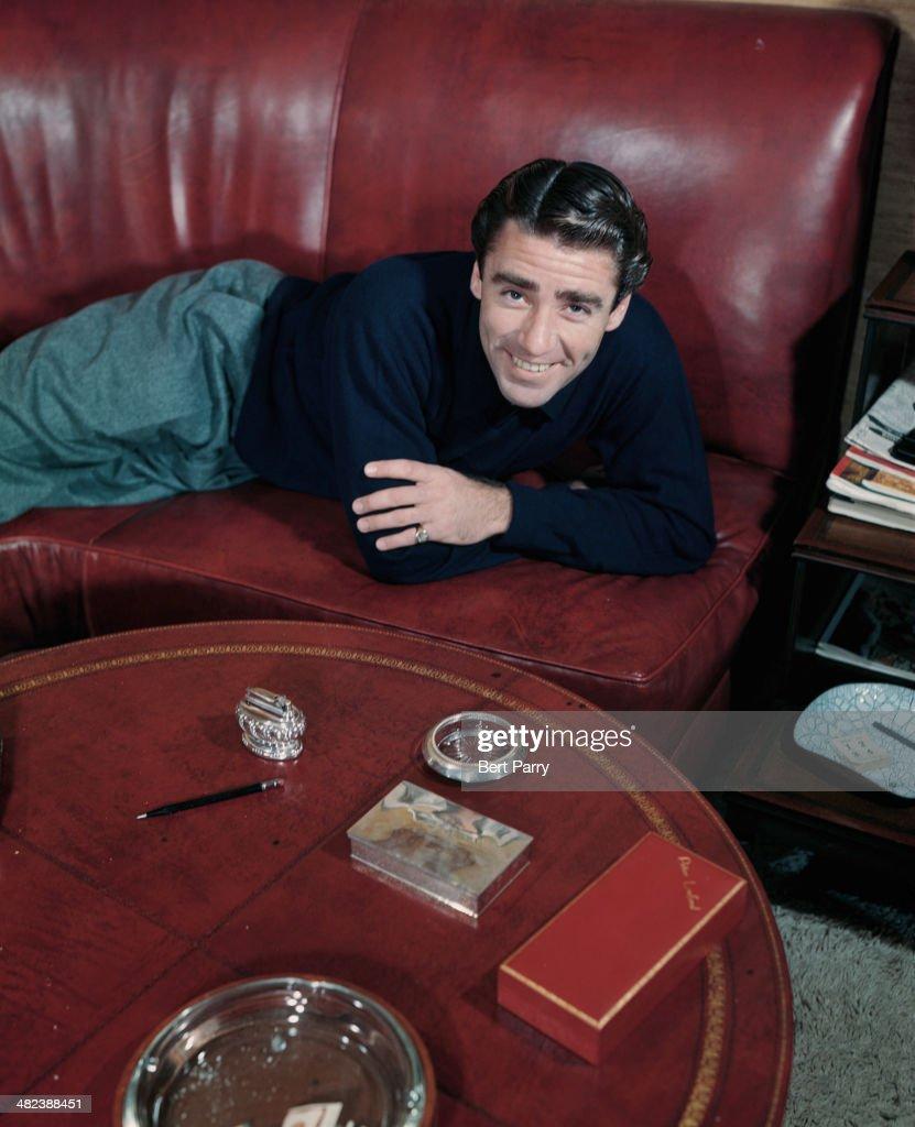 English-born American actor Peter Lawford (1923 - 1984), circa 1955.