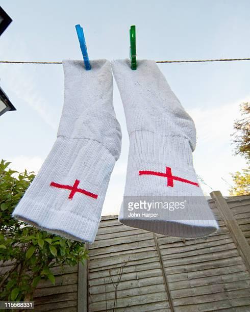 Englishmans socks drying on line