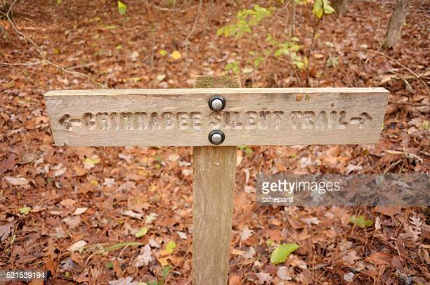 Engraved Chinnabee Silent Trail arrow sign