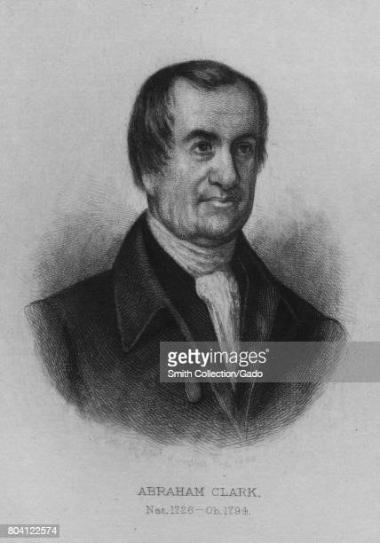 Engraved portrait of Abraham Clark delegate to the Continental Congress signer of the Declaration of Independence and member of the United States...