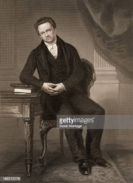 Engraved portrait of American politician DeWitt Clinton late 18th or early 18th century Clinton conceived of and was the principal promoter of the...