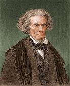 Engraved portrait of American politician former US Vice President John Caldwell Calhoun mid 19th century