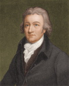Engraved portrait of British inventor Edmund Cartwright early 19th century