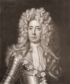 Engraved portrait of British military commander John Churchill 1st Duke of Marlborough